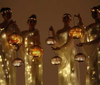 Arcadians with lanterns 2, Divine Company