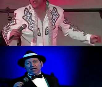 Jerry as Elvis and Sinatra