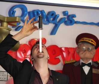 Johnny strange sword swallowing at ripleys