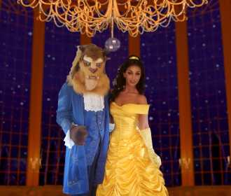 Beauity and the beast background 2